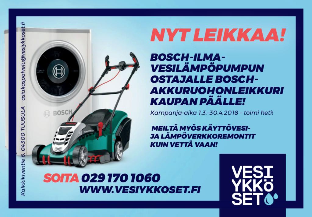 Vesiykköst bosch kampanja